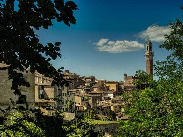 vista sulla città di siena