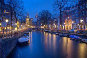 canale di amsterdam a capodanno