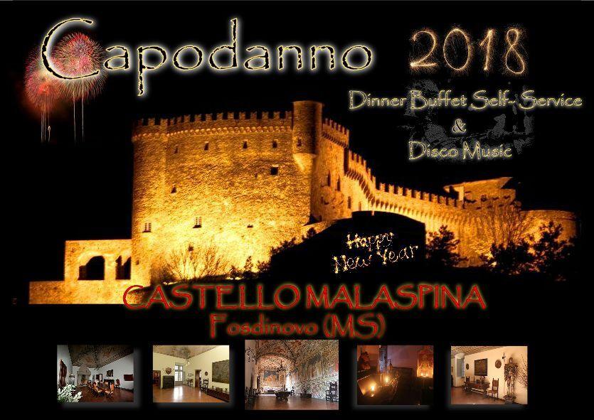 locandina del capodanno 2018 al castello malaspina