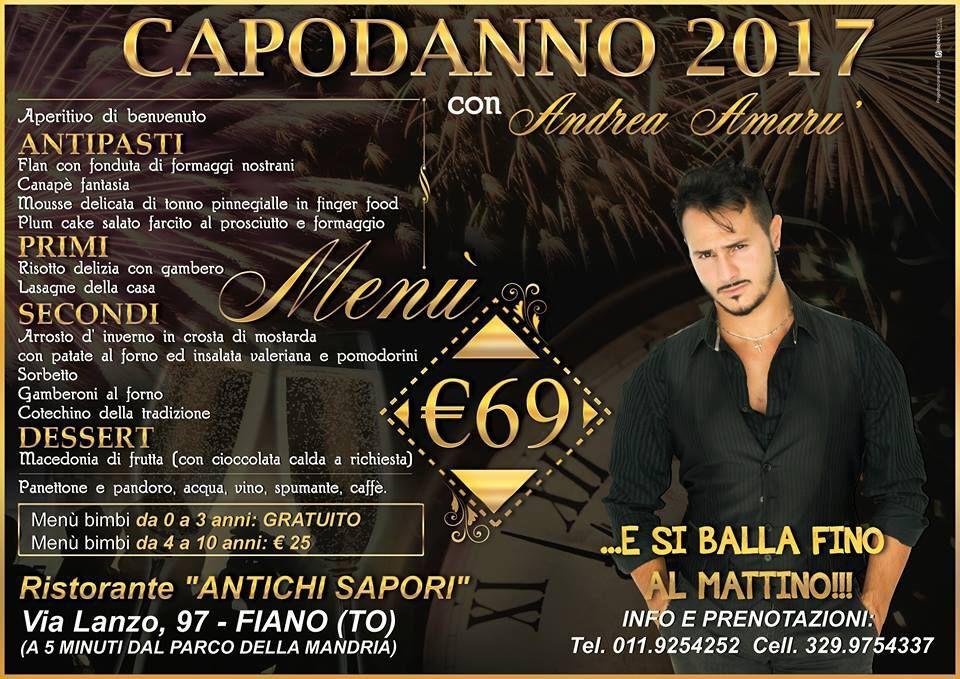 """Cenone di fine anno al ristorante """"Antichi Sapori"""" di Fiano"""