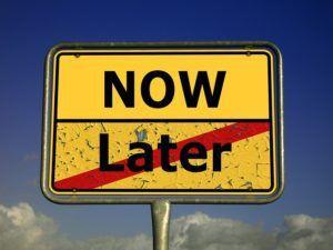 cartello procrastinazione
