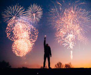 capodanno da solo con fuochi d'artificio