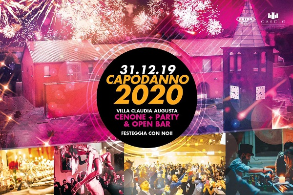 Party di Capodanno 2020 a Villa Claudia Augusta – Il mega party di fine anno